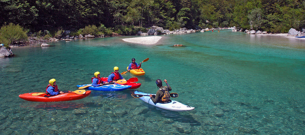 Soca River kayak