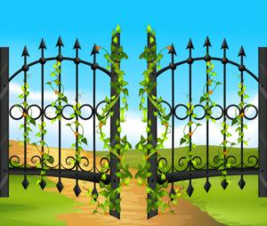 Dvoriščna vrata nam omogočajo dobro zasebnost