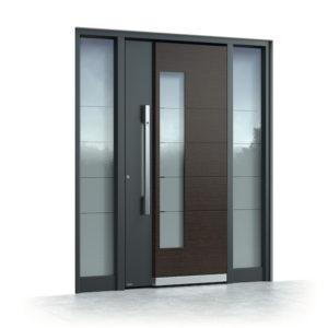 PVC in ALU vhodna vrata