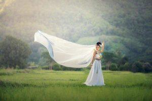 Ponudba je res neomejena, naročimo lahko svečana ženska oblačila in celo poročne obleke